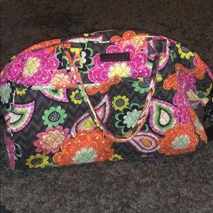 Vera Bradley overnight bag with shoulder strap